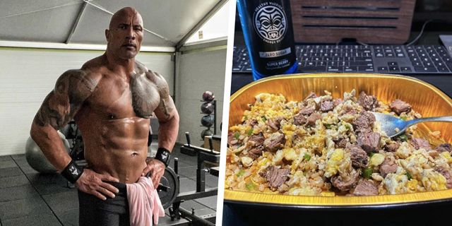 the rock's power breakfast