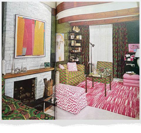 watermelon color room