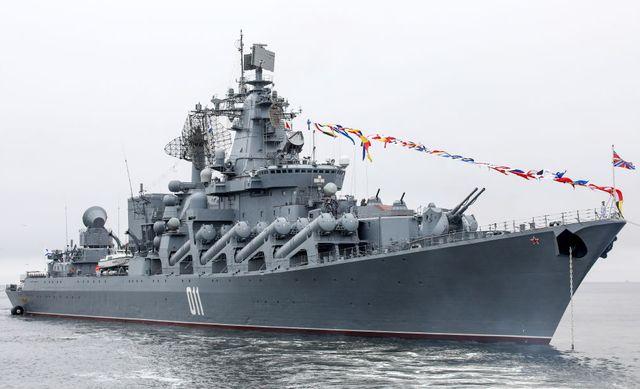 dress rehearsal of russian navy day military parade in vladivostok