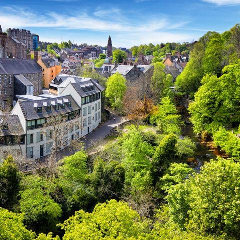 The scenic Dean Village, Edinburgh, Scotland