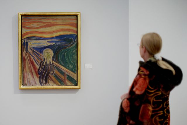"""""""the scream"""" by expressionist painter ed"""