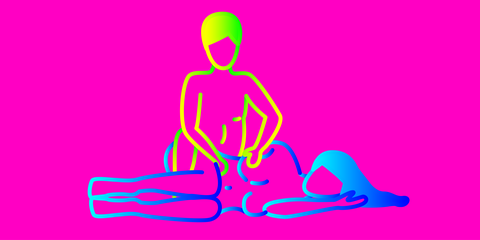 Pink, Magenta, Joint, Sitting, Lunge, Balance, Art, Physical fitness,