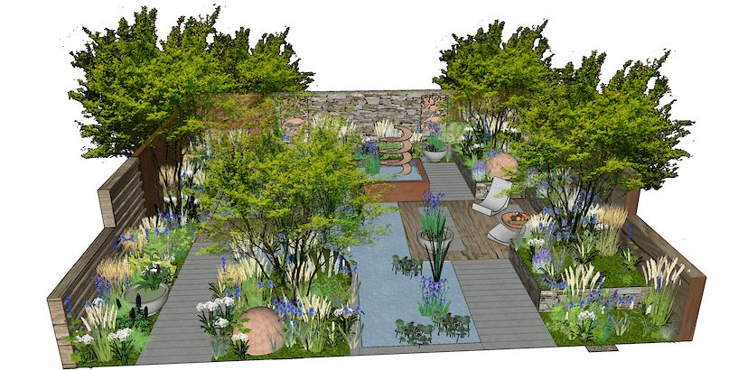 The Silent Pool Gin Garden by David Neale
