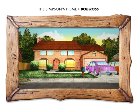 the simpson family home if designed by bob ross