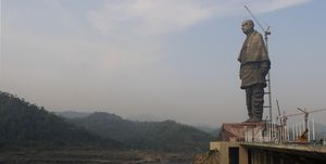 Gujarat Chief Minister Vijay Rupani Visits Statue Of Unity Site Ahead Of Unveiling By Prime Minister Narendra Modi