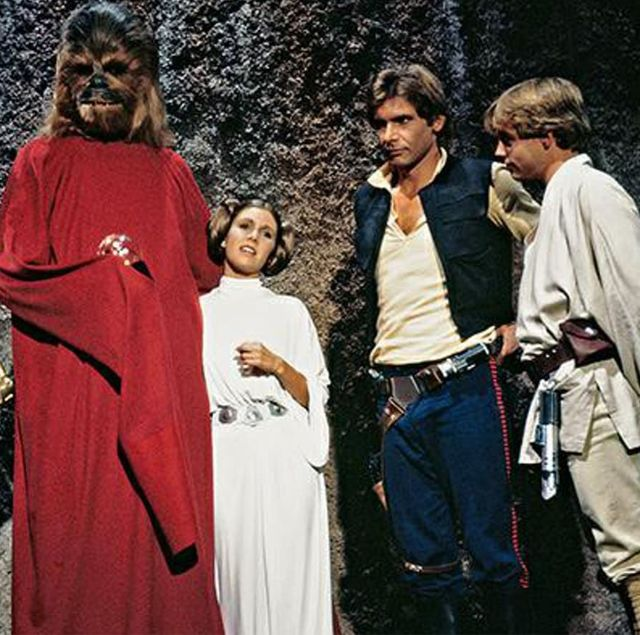 chewie con pijama al final de the star wars holiday special