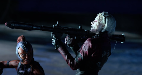 harley quinn and mongal, the suicide squad, behind the scenes dc fandome
