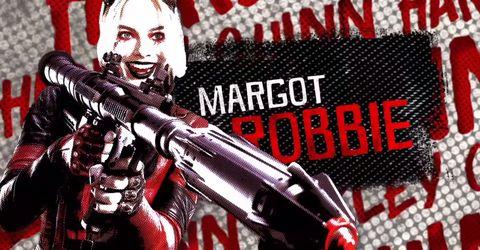 margot robbie en la imagen promocional de the suicide squad