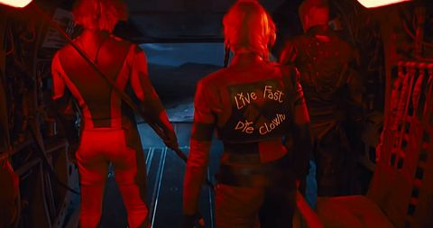 harley quinn's slogan jacket in the suicide squad