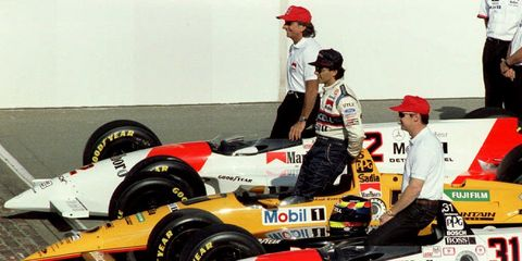 The top three qualifiers for the 1994 Indianapolis