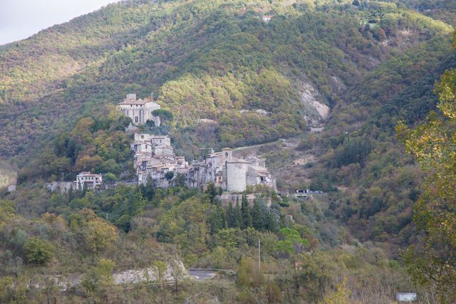the town of montenero sabino in the province of rieti in lazio in italiamontenero sabino is 450 meters high above sea level, on a ridge of monti sabini