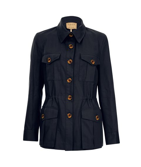 troy london navy jacket