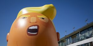 Inflatable Donald Trump Baby For Protest At Trumps UK Visit