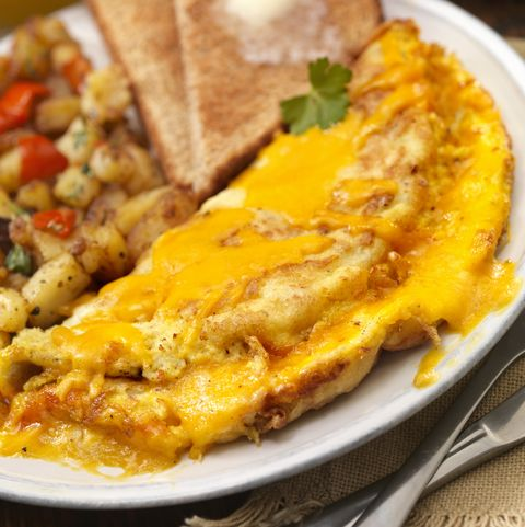 the ultimate cheddar cheese omelette