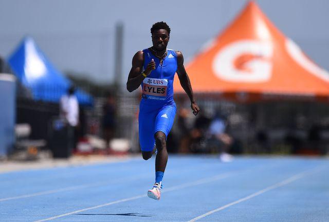 el atleta estadounidense noah lyles, campeón mundial de los 200m, corre desde florida los inspirational games de zurich