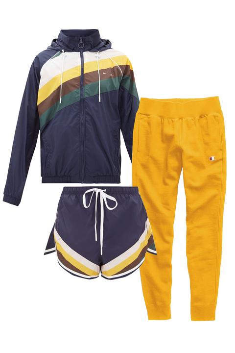 Clothing, Yellow, Sportswear, Outerwear, Sleeve, Trousers, Jersey, Jacket, sweatpant,