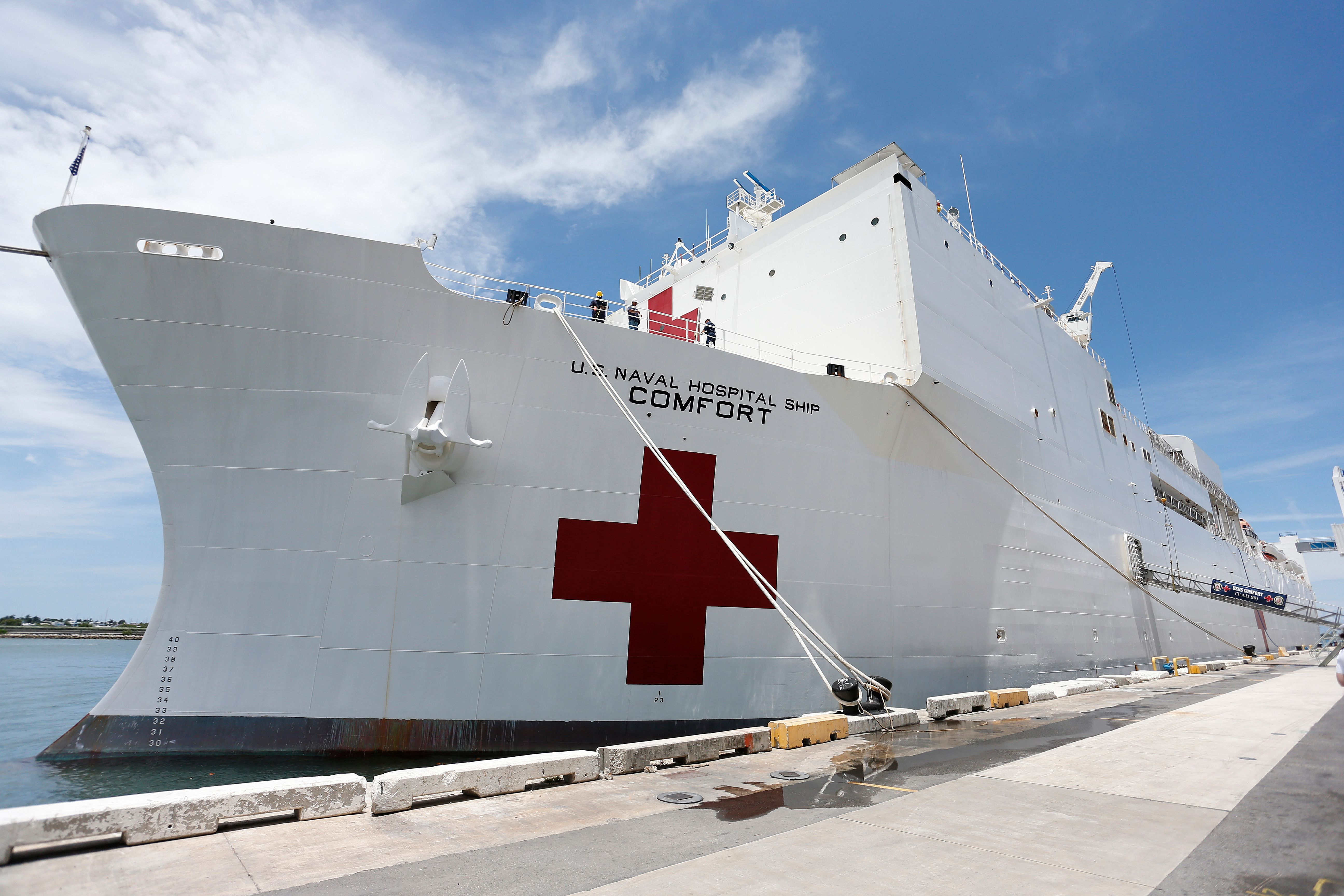 A Look Inside the Navy Hospital Ships Fighting COVID-19