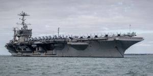 US Aircraft Carrier Docked at Portsmouth, England