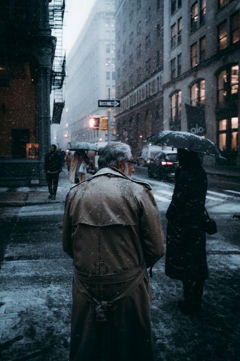 Street, Urban area, Infrastructure, Pedestrian, Rain, Road, Snow, Photography, City, Winter,