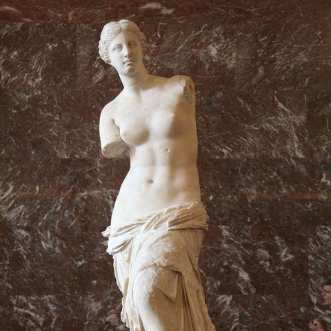 The Venus de Milo at the Louvre Museum back after restoration in Paris, France on July 9, 2009.