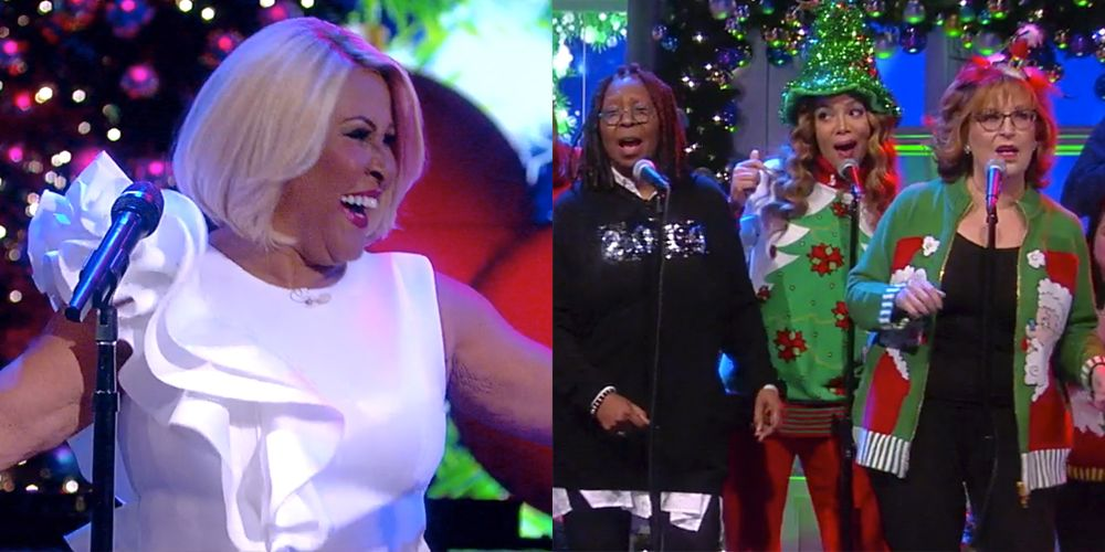 Darlene Love Christmas.The View Cast Sings To Christmas Baby Please Come Home