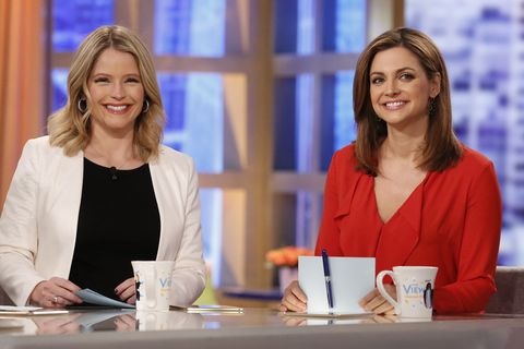 """'The View' Star Paula Faris Gets """"Lit"""" With Sara Haines and Other Co-Hosts Ahead of Exit"""