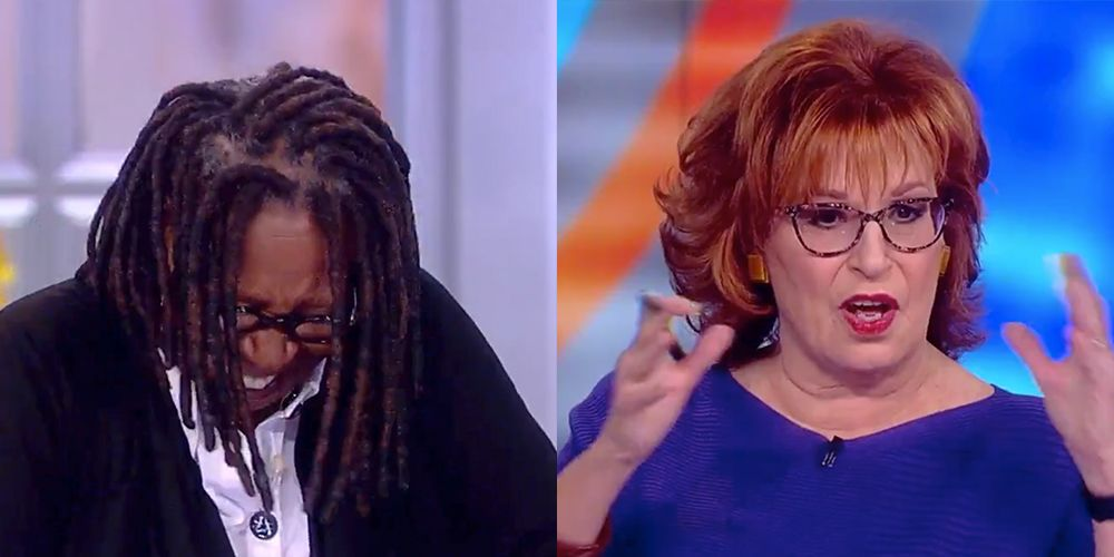the view star whoopi goldberg lost it after hearing joy behar s