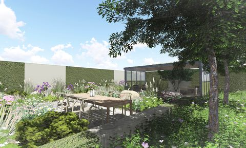 Will Williams is the youngest designer to showcase at RHS Hampton Court Garden Festival 2019