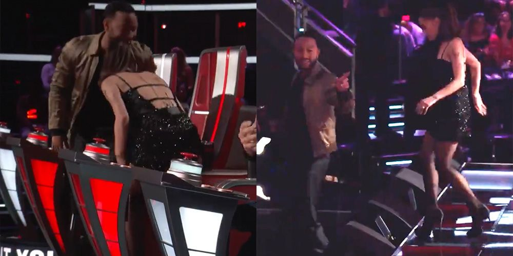 Ariana Grande and John Legend Walked Off  The Voice  After a Fight Broke Out
