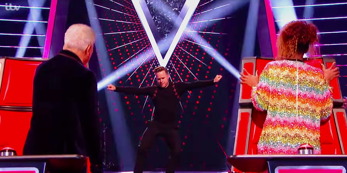 Olly Murs performs on The Voice UK