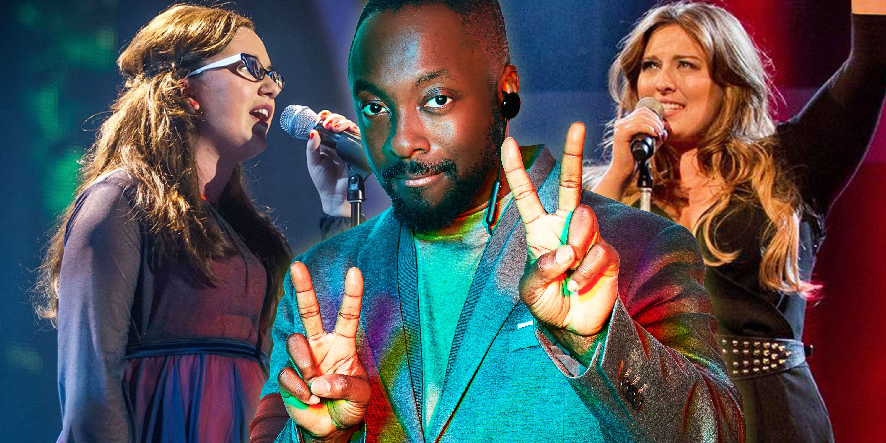 The Voice winners Andrea Begley, Leanne Mitchell, Voice Judge Will I Am