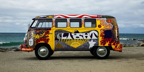 Woodstock's VW 'Light' Bus Recreated For 50th Anniversary