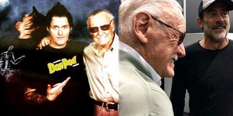 Norman Reedus y Jeffrey Dean Morgan con Stan Lee