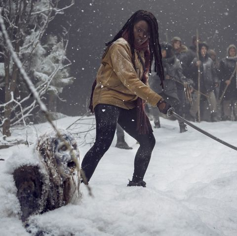 The Walking Dead's Michonne takes on zombies in first picture from season 10