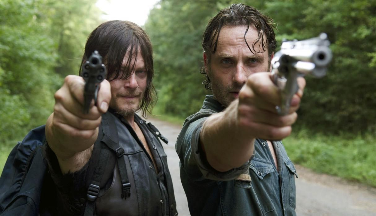 Rick y Daryl en The Walking Dead temporada 9