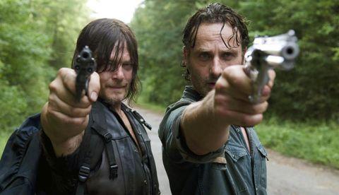 Rick y Daryl en The Walking Dead temporada 9