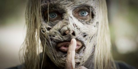 Face, Zombie, Head, Eye, Skin, Nose, Human, Mouth, Close-up, Snout,