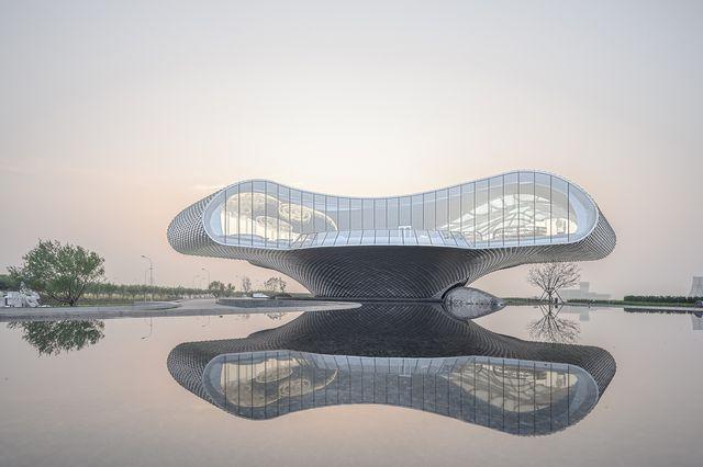 the wave museum binhai, china del estudio lacime architects beijing