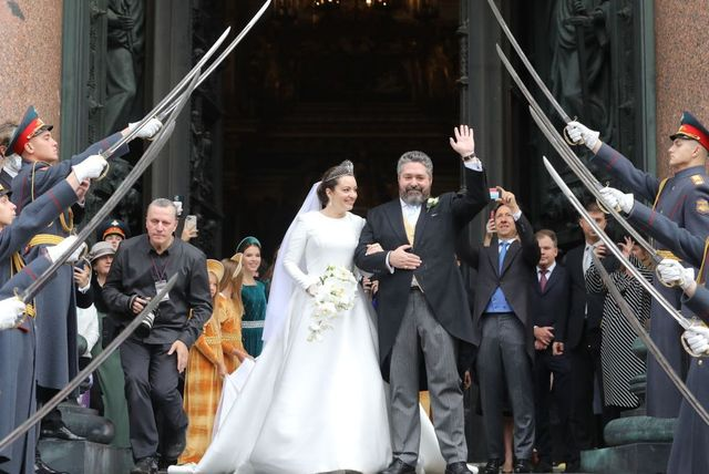 wedding of grand duke george mikhailovich and rebecca bettarini in st petersburg