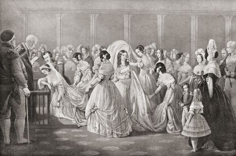 The Wedding Of Queen Victoria And Prince Albert In 1840