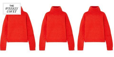 Clothing, Red, Outerwear, Sleeve, Sweater, Hood, Jacket, Woolen, Polar fleece, Wool,
