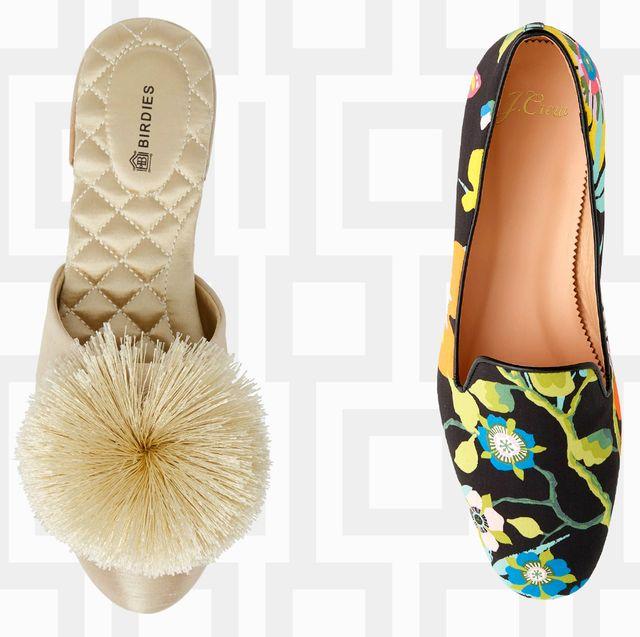 Footwear, Shoe, Ballet flat, Beige, Sandal, Slipper,
