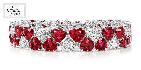 Jewellery, Fashion accessory, Ruby, Red, Gemstone, Body jewelry, Diamond, Crystal, Platinum, Silver,