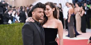 Bella Hadid and The Weeknd at 'Manus x Machina: Fashion In An Age Of Technology' Costume Institute Gala