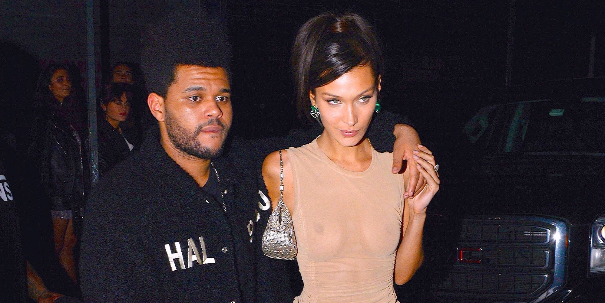 Bella Hadid and The Weeknd Wore Matching Outfits to His Lavish Club Birthday Party