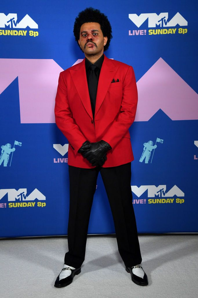 The Weeknd Outfit and Makeup at the 2020 MTV VMAs