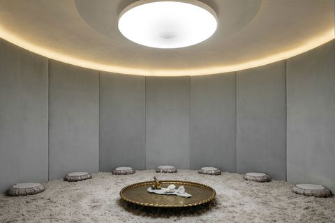 Ceiling, Light, Interior design, Lighting, Wall, Room, Architecture, Circle, Daylighting, Ceiling fixture,