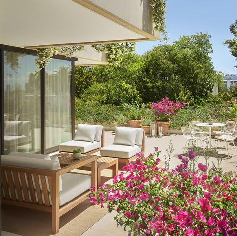 Property, Building, Room, Garden, Interior design, Home, Furniture, House, Plant, Real estate,