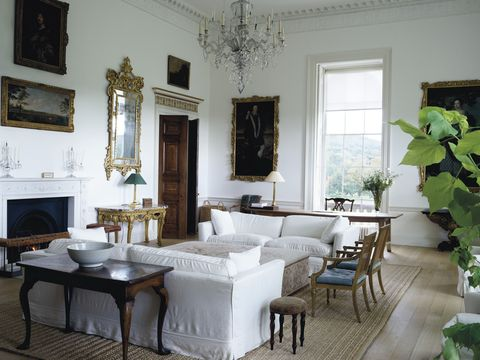 new wardour castle white drawing room