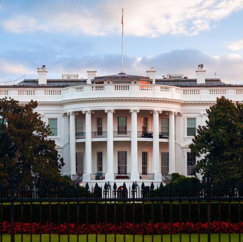 the white house south lawn, washington dc, america